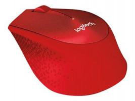 Logitech M330 Silent Plus bezdrátová myš, červená
