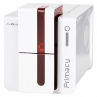 Evolis Primacy, oboustraný tisk, 300 dpi, USB, Ethernet, čipové karty, červená