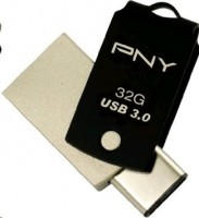 Flash disk PNY Technologies 32GB USB 3.0, Type A/Type-C