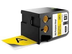 DYMO XTL TAPE VINYL PERMANENT Černá na žluté role štítků