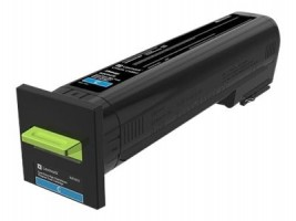 CX825, CX860 Cyan Extra High Yield Return Program Toner Cartridge - 22 000 stran