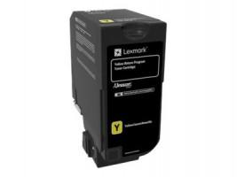 CS720, CS725, CX725 Yellow Return Programme Toner Cartridge - 3 000 stran, 74C20Y0