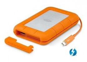 """External SSD LaCie Rugged 2.5"""" 1TB SSD Thunderbolt USB3.0 IP54 rated resistance"""