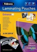 Fellowes Matt laminating pouches 80 micron, A3 100-pack