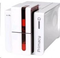 Evolis Primacy, oboustraný tisk, 300 dpi, USB, Ethernet, MSR, červená (