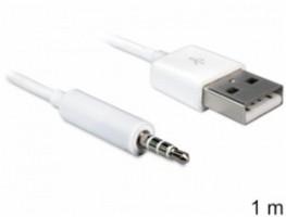 Delock Cable USB-A samec > Stereo jack 3.5 mm samec 4 pin IPod Shuffle 1 m