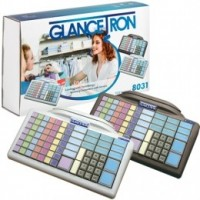 Glancetron 8031 klávesnice , num., RS232, PS/2, kit, bílá