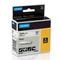Dymo Rhino Flexible Nylon Tape 12 mm x 3,5 m černý tisk na žlutou pásku
