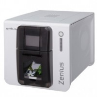 Evolis Zenius Expert, single sided, 12 dots/mm (300 dpi), USB, Ethernet, MSR, MSR, red