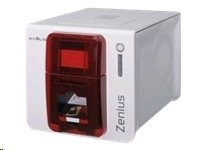 Evolis Zenius Classic, single sided, 12 dots/mm (300 dpi), USB, červená
