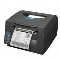 Citizen CL-S521 - Direct Thermal, 8 dots/mm (203 dpi), řezačka, ZPL, Datamax, Dual-IF, black