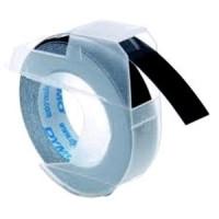 Dymo 3D páska 9 mm x 3 m plastová lesklá černá