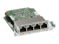 Cisco Gigabit EtherSwitch EHWIC - Přepínač - řízený - 4 x 10/100/1000 (PoE) - zásuvný modul - PoE