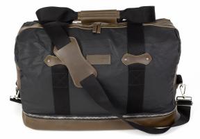 Par Avion cestovní batoh voskovaný denim / kůže