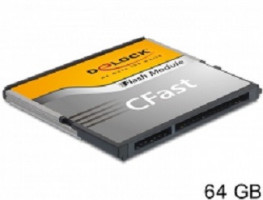 Delock SATA 6 Gb/s CFast Flash Card 64 GB Typ MLC