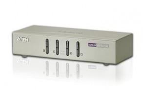 ATEN KVM switch CS-74U USB 4PC audio , včetně kabelů 1.2m
