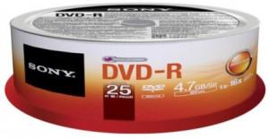 Média DVD-R SONY DMR-47SP,25ks pack, Spindl