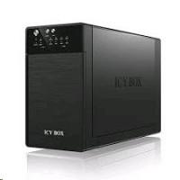 "Icy Box External RAID system pro 2x3,5"" SATA I/II/III, USB 3.0, eSATA, černá barva"