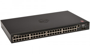 DELL Networking N2048 switch/ 48 x 10/100/1000 Baset-T+ 2 x SFP+ 10 GbE/ 2x stacking/ 3YNBD on-site