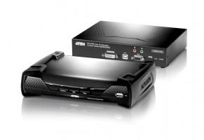 ATEN KVM extender KE-6900 DVI Single display KVM over IP extender (balení obsahuje dvě jednotky - vysílač a přijímač)