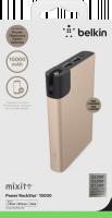 Belkin MIXIT™ Power RockStar™ 10000, 2xUSB + 1x Lightning & 1 Micro-USB kabel - zlatý