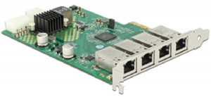 Delock PCI Express Card > 4 x 1 Gigabit LAN PoE+ RJ45