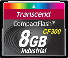 Transcend 8GB INDUSTRIAL CF300 CF CARD, high speed 300X paměťová karta (SLC)