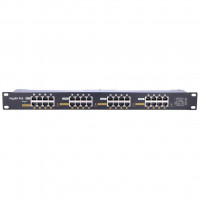 EXTRALINK 16 Port Passive or 802.3af/at PoE Injector 1 GbE 18v~57v DC Rack 19""