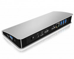 Icy Box Docking stanice s Power Delivery USB Type-C, HDMI, DP, SD reader