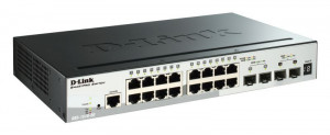 D-Link DGS-1510-20 20-Port Gigabit Stackable SmartPro Switch including 2 SFP ports and 2 x 10G SFP+ ports- 16 x 10/10