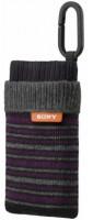 SONY LCS-CSZB - Stylové pouzdro (ponožka) - černá/fialová barva