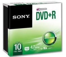 Média DVD-R SONY DMR-47; 4.7GB; 16x; 10ks SLIM (10DMR47SS)