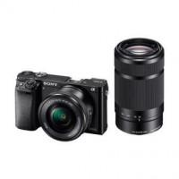 SONY ILCE-6000 Fotoaparát Alfa 6000 s bajonetem E + 16-50mm a 55-210mm objektiv - Black (ILCE6000YB.CEC)