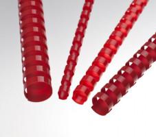 Plastové hřbety 8 mm, červené (LAMRE21DR08R)
