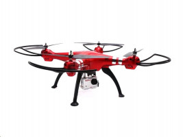 SYMA X8HG Full-HD - RC_45559 4-Channel with Gyro + 8MP Camera (Red)