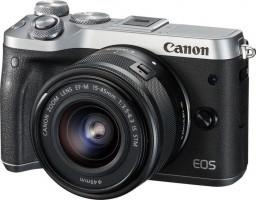 Canon EOS M6 + EF-M 15-45mm 3.5-6.3 IS STM MILC 24.2MP CMOS 6000 x 4000px Černá, Stříbrná
