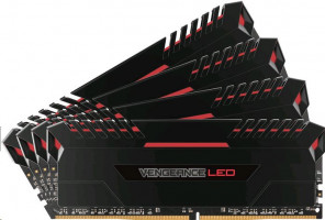 Corsair Vengeance LED red DIMM sada 32GB, DDR4-3200, 4 x 8 GB