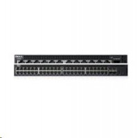 Dell - Networking X1052 - Switch - L2+ - řízený - 48 x 10/100/1000 + 4 x 10 Gigabit SFP+