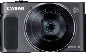 "Canon PowerShot SX620HS, Black - 20MP, 25x zoom, 25-625mm, 3,0"""