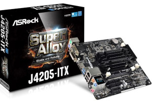 ASROCK MB J4205-ITX s integrovaným intel CPU quad-core J4205 (2x DDR3 SO-DIMM, VGA +DVI +HDMI, PCI-E + M.2, 2xSATA3, 7.