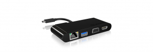 Icy Box Multi Docking stanice for Notebooks and PCs, HDMI, VGA, RJ45