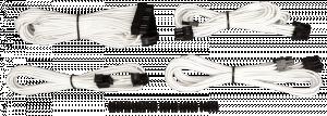 Corsair Professional Individually sleeved DC kabel Kit, Type 4 (Gen. 3), White