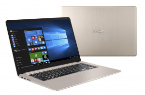 """ASUS S510UA-BQ132T/VivoBook/15, 6""""/FullHD TN /i3-7100U/4GB/128GB SSD/Intel HD Graphics/W10/Gold"""