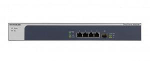 Netgear XS505M Nespravované 10G Ethernet (100/1000/10000) Šedá, Stříbrná