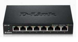 D-Link DGS-108 kovový 8-port 10/100/1000 Switch