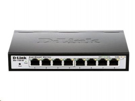 D-Link EasySmart Switch DGS-1100-08 - Prepínac - rízený - 8 x 10/100/1000 - desktop