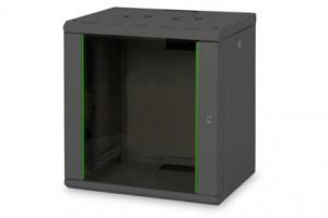 Digitus 12U skříňka montáž na stěnu , 643x600x450 mm, barva černá