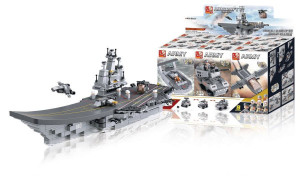 Sluban M38-B0537 - Stavebnicové Kostky Aircraft Carrier Serie 9-in-1 Aircraft Carrier