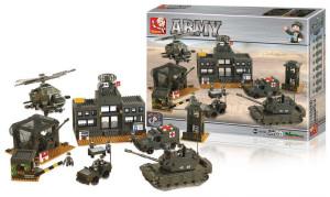 Sluban M38-B7100 - Stavebnicové Kostky Army Serie Centrála