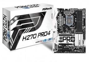 ASRock H270 Pro4, INTEL H270 Series,LGA1151,4 DDR4, 3xM.2 (2 for SSD,1 WiFi)